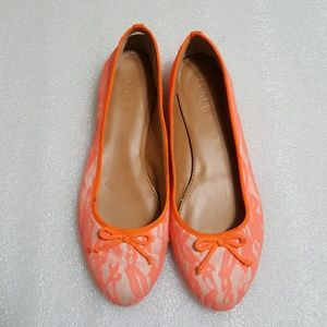 ♨️J.CREW♨️ orange color  ballet  flats size 7